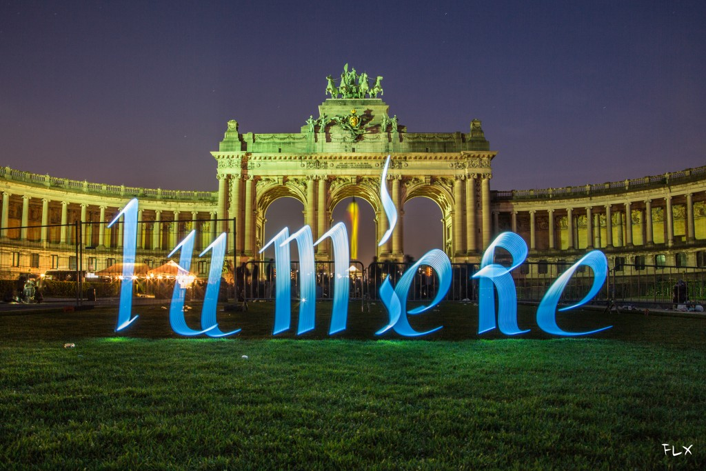 Light Calligraphy in Brussels