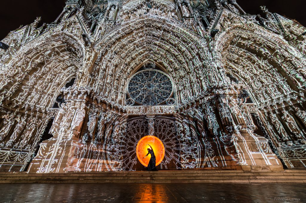 mapping cathédrale reims photo